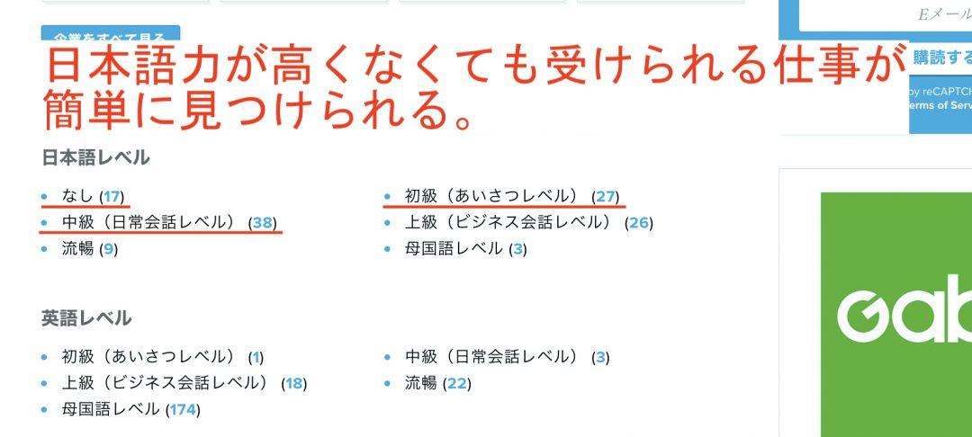GaijinPot Jobsの検索方法